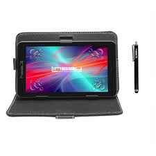"LINSAY 7"" HD Quad Core <b>Tablet</b> With Black <b>Leather Case</b> And ..."