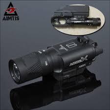 Aim Pistol Light Aimtis X300 X300v Flashlight Tactical Strobe Light Tac Handgun Scout Flashtorch Pistol Weapon Light Rail Mount Ar Rifle