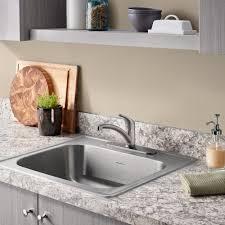 Shop Kindred Essential 25in X 22in SingleBasin Stainless Steel 25 X 22 Kitchen Sink