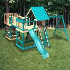swing set with bridge diy monkey play system