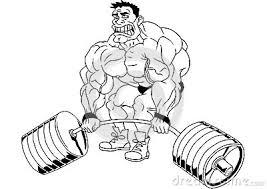 Kleurplaat Bodybuilder Cartoon Funny Bodybuilder Stock Vector Image