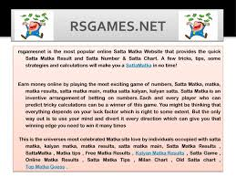 Online Matka Play Play Matka Online Play By Rsgames Issuu
