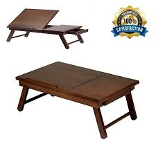 folding wood laptop table lap desk portable computer tray stand holder bed read