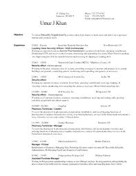Resume Examples For Security Guard Best of Resume Objective Quotes Security Guard Resume Example Entry Level