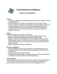 Scholarship Aplication Form Individual Scholarship Application Form Overview Ontario