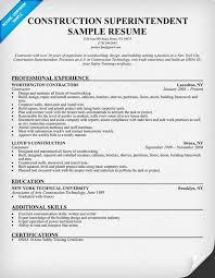 Sample Construction Superintendent Resume Awesome Construction  Superintendent Resume Sample Resume Panion