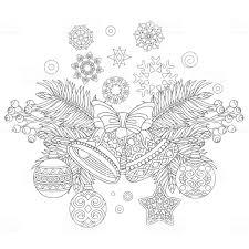 Kleurplaat Van Kerstversiering Stockvectorkunst En Meer Beelden Van