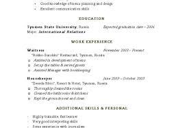Housekeeping Resume Sample Objective Housekeeper No Experience