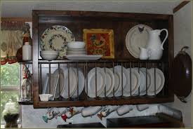 Wooden Plate Racks For Kitchens Wall Mounted Plate Racks For Kitchens Home Design Ideas