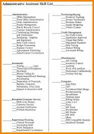 Skills To List On Your Resume Administration Skills Examples Skills To List On Resume For