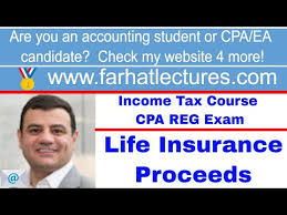 Property insurance proceeds can create taxable income. Gross Income Exclusion Life Insurance Proceeds Income Tax Course Cpa Exam Regulation Youtube