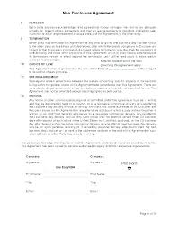 Simple Nda Template Free Form Template Basic Simple Agreement Basic Document