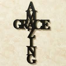 amazing grace word wall art black on black metal cross wall art with amazing grace word cross wall art