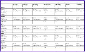 Sample Work Schedule For Employees Employee Schedule Calendar Template Skincense Co