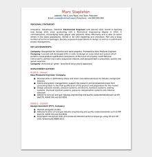 Mechanical Engineer Resume Template 11 Samples Formats