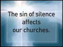 Image result for pics of Silence in Our Churches