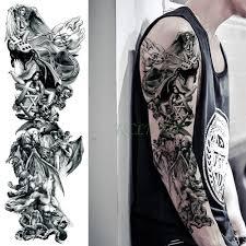 12669 руб водонепроницаемая временная татуировка наклейка волк крылья ангела