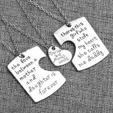 2016 gift 3pcs family groups jewelry father and mother i love u charm pendant necklace set