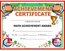 Printable Appreciation Certificates Printable Mathematics Certificates Download Them Or Print