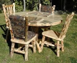 48 round wood table pedestal base