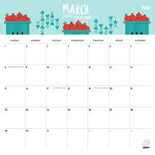 Month Of March Calendar 2020 2020 Printable Calendars 9 Free Printable Calendar Designs