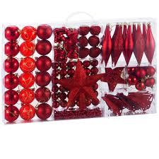Deuba Weihnachtskugeln Rot 102 Christbaumkugeln Christbaumschmuck Aufhänger Für Den Weihnachtsbaum Weihnachtsbaumschmuck Weihnachtsbaumkugeln