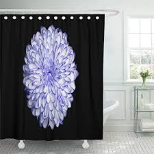 aahahs fabric shower curtain curtains with hooks green flower purple annealed chrysanthemum on black white beauty bloom blooming blossom botany bright