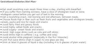 Gestational Diabetes Food Chart Diet For Gestational Diabetes