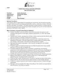 Realtor Job Description Adorable Realtor Resume Job Description About Real Estate Agent Job 24