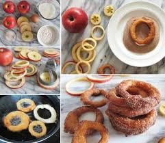 apple rings. fried cinnamon apple rings