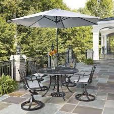 outdoor patio dining set with umbrella. largo 5-piece patio dining set with gray cushions and umbrella outdoor o