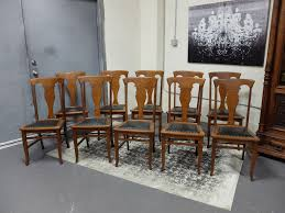 antique dining room chairs. Antiques By Design - T Back Quartered Oak Dining Chairs Set Of 10 Antique Room S