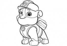 Rubble Paw Patrol Disegni Da Colorare Per Bambini Disegni Da
