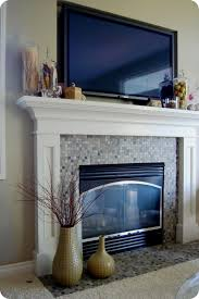 how to decorate a fireplace mantel with tv design ideas