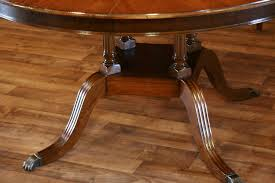 Henredon Dining Room Table Round To Oval Mahogany Dining Table