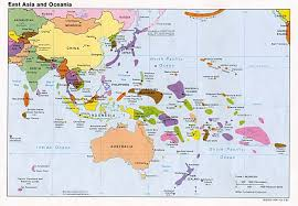 Map of asian islands
