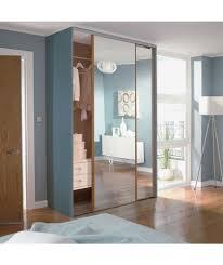 oak mirror sliding wardrobe door aura kit 2x24 inch at argos co