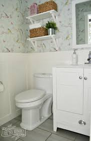 Powder Room Wallpaper A Powder Room Makeover With Diy Wallpaper And Board Batten The