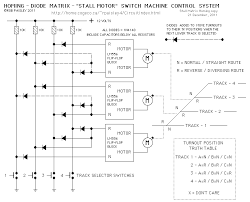 diode matrix systems homing diode matrix turnout control schematic