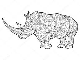rhinoceros coloring book for s vector stock vector