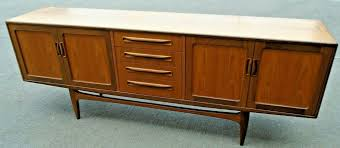 details about g plan fresco scandinavian style teak veneer dark wood sideboard cabinet d42