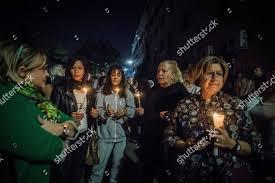 Torchlight ceremony memory Desiree Mariottini young girl Editorial Stock  Photo - Stock Image