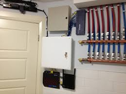 installed modem security system router 16 port gigabit network switch with structured wiring