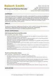 Technical Recruiter Resume Samples Qwikresume