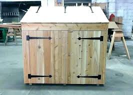 outdoor trash can holder wooden garbage storage cabinet bin plans image of wo