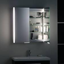 Aluminium Bathroom Cabinets Roper Rhodes Summit Aluminium Two Door Illuminated Cabinet Uk