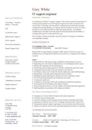 IT support engineer CV sample, 1st line support, job hunting, technology  jobs, resume, CVs