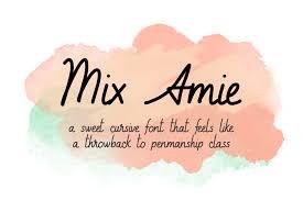 Amie A Sweet Handwritten Cursive Font