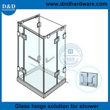 ddgh004 heavy duty frameless shower door hinges for commercial glass door