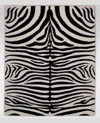 new ethan allen 8 x 10 nova zebra rug ivory black 100